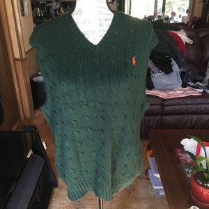 Men's Polo Ralph Lauren hunter green vest